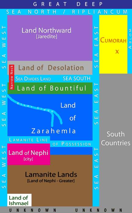 Book of Mormon Geography - Internal Map